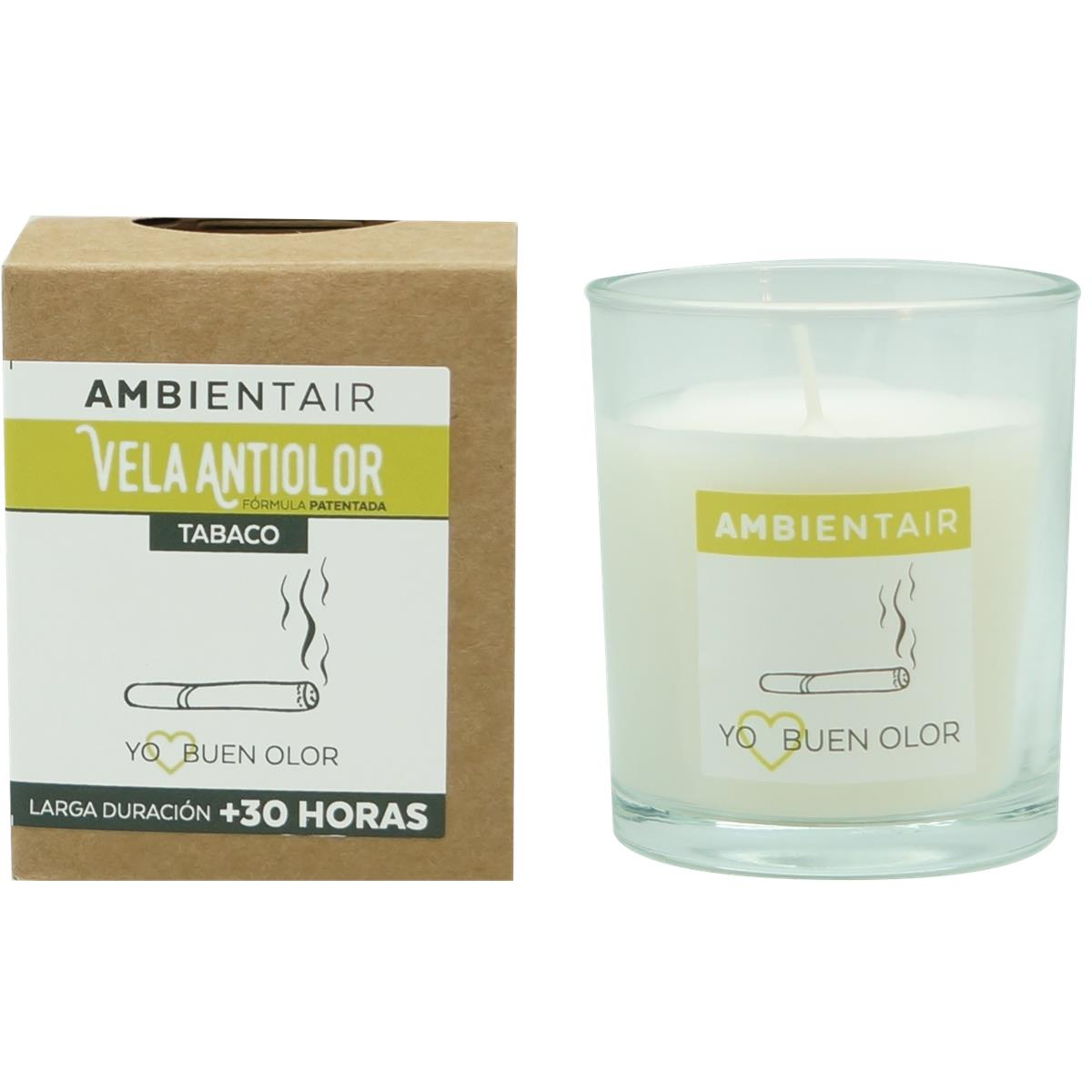 Ambientair · Vela aromática · Antiolor Baño